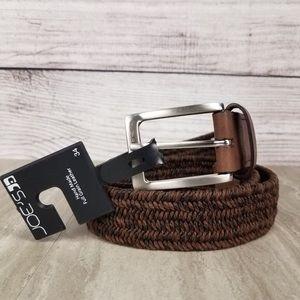 NWT Joes Denim braided leather belt sz. 34